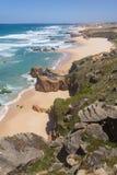 Malhao beach,  Vila Nova de Milfontes. Alentejo, Portugal Stock Image