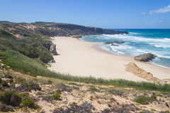 Malhao beach,  Vila Nova de Milfontes. Alentejo, Portugal Royalty Free Stock Photography