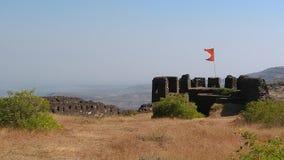 Malhar Gadh喜爱的堡垒在印度 库存图片