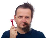 Malheur d'efficacité de rasoir photos libres de droits