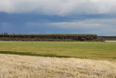 :Malheur. Malheur National Wildlife Refuge and a late spring storm from State Hwy 205 near Burns OR Royalty Free Stock Photography