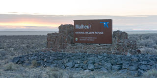 Malheur National Wildlife Refuge Refuge Closed Now Bundy occupat Royalty Free Stock Photo