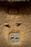 Mali, Africa - Dogon village and typical mud buildings. Ansongo, Mali, Africa - January 28, 1992: Dogon village and typical mud buildings with toguna and barns Royalty Free Stock Photos