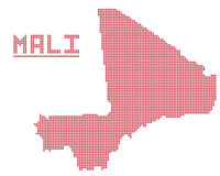 Mali Africa Dot Map Photo libre de droits