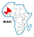 Mali Africa Map Photographie stock