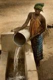 Mali, afryka zachodnia - Styczeń 25, 1992: Peul wioska i typowy m Zdjęcie Royalty Free