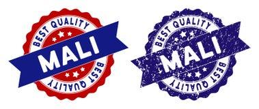 Mali Best Quality Stamp con superficie Grungy Fotografia Stock