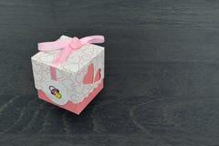 Mali biali prezentów pudełka Zdjęcia Stock