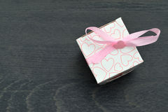 Mali biali prezentów pudełka Zdjęcia Royalty Free