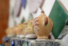 Mali ceramiczni zbiorniki Fotografia Royalty Free