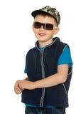 mali chłopiec okulary przeciwsłoneczne obraz stock