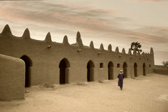 Mali, Djenne - January 25, 1992: Mosques built entirely of clay. Mali, Djenne - January 25, 1992:  impressive mosques built entirely of clay in west Africa Stock Photo