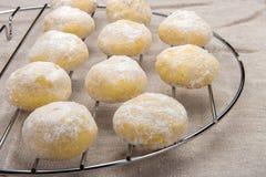 Mali domowej roboty ciastka w sproszkowanym cukierze Obraz Royalty Free