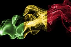 Mali dymu flaga Zdjęcie Royalty Free