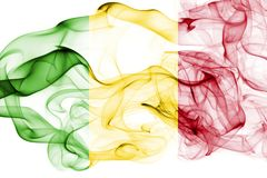 Mali dymu flaga Fotografia Stock