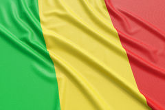 Mali Flag Immagine Stock