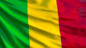 Mali Flag Bandeira de ondulação da ilustração de Mali 3d ilustração stock
