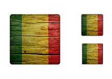 Mali Flag Buttons Royalty Free Stock Images