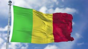 Mali Flag in een Blauwe Hemel Royalty-vrije Stock Fotografie