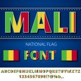 Mali Flag Font Stockfoto