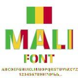 Mali Flag Font Stockfotos