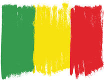 Mali Flag Vector Hand Painted with Rounded Brush Royalty Free Stock Images