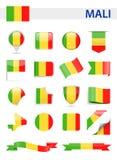 Mali Flag Vector Set Imagen de archivo libre de regalías