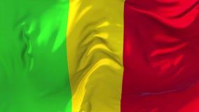 221 Mali Flag Waving en fondo inconsútil continuo del lazo del viento ilustración del vector