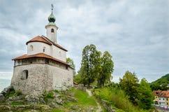 Mali grad, Kamnik, Slovenië Stock Foto's