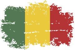 Mali grunge flag. Vector illustration. Stock Images