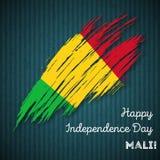 Mali Independence Day Patriotic Design Fotografia Stock Libera da Diritti
