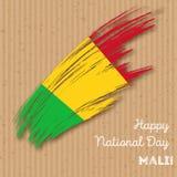 Mali Independence Day Patriotic Design Immagine Stock Libera da Diritti