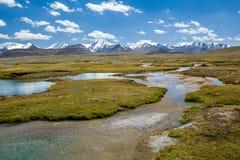 Mali jeziora w Arabel dolinie, Tien shan zdjęcia stock