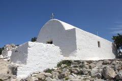 Mali kościelni ażio Panteleimonas, Rhodes Zdjęcia Stock