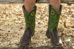 Mali kowbojscy buty Zdjęcia Stock