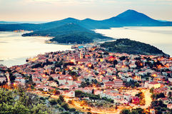 Mali Lošinj. Panoramic view of the largest island town on the Adriatic sea, Mali Losinj, Croatia Stock Images