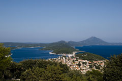 Mali Losinj. View at town Mali Losinj on island Losinj, Croatia Royalty Free Stock Images