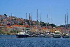Mali Losinj. In Croatia, the harbour Stock Image