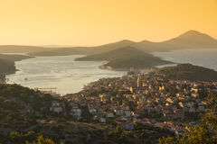Mali Losinj, Croatia. Panoramic view of Mali Losinj, Croatia Stock Photos