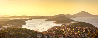 Mali Losinj, Croatia. Panoramic view of Mali Losinj, Croatia Royalty Free Stock Images