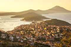 Mali Losinj, Croatia. Panoramic view of Mali Losinj, Croatia Royalty Free Stock Image