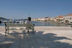 Mali losinj Croatia. The town of Mali Losinj Croatia on a summer day Royalty Free Stock Images