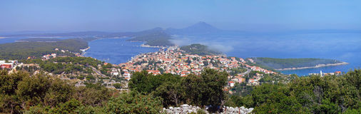 Mali Losinj, Croatia. View over the island Mali Losinj, Croatia Stock Images