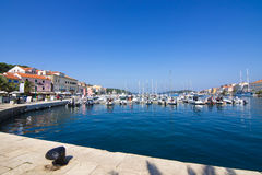 Mali Losinj on the island of Losinj, august 20. 2016 Stock Photography