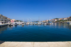 Mali Losinj on the island of Losinj, august 20. 2016 Royalty Free Stock Images