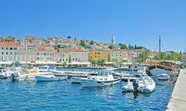 Mali Losinj Losinj ö, Adriatiskt hav, Kroatien Arkivfoto