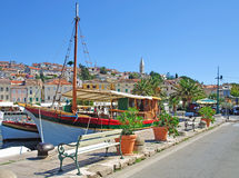Mali losinj on losinj island. In the harbour of mali losinj on the island of losinj in croatia Stock Photos