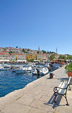 Mali losinj on losinj island. In the harbour of mali losinj on the island of losinj in croatia Royalty Free Stock Image