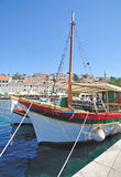 Mali losinj on losinj island. In the harbour of mali losinj on the island of losinj in croatia Stock Photography