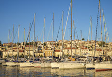 Mali Losinj port. Boats in Mali Losinj port Stock Photo